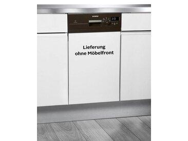 SIEMENS teilintegrierbarer Geschirrspüler, SR515M03CE, 8,5 l, 9 Maßgedecke, 8,5 Liter, 9 Maßgedecke, 45 cm breit, Energieeffizienz: A+, braun, Energieeffizienzklasse: A+