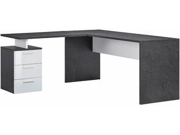 Tecnos Eck-Schreibtisch »New Selina«, grau, FSC-Zertifikat, , , Hochglanz, FSC®-zertifiziert,
