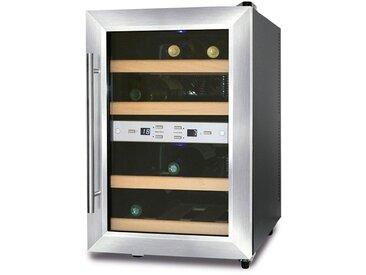 Getränkekühlschrank WineDuett 12, silber, Energieeffizienzklasse: B, Caso