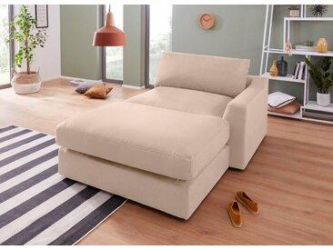 sit&more Chaiselongue, beige, 139cm, Recamiere rechts