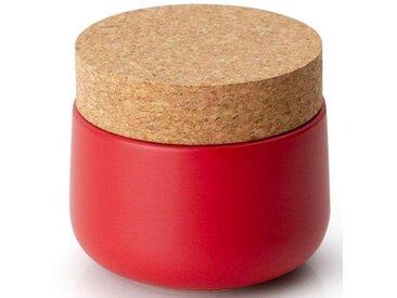 Vorratsdose, Keramik, Kork, 10,5 x 15 cm, rot, H, lebensmittelecht, , , Continenta