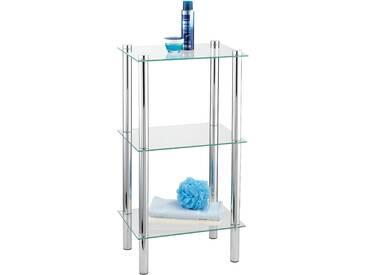 WENKO Regal Yago viereckig mit 3 Glasablagen, einfache Montage