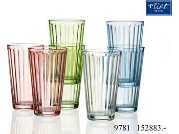 6er-Set Longdrink-Gläser hellgrün - Longdrink-Gläser Lawe