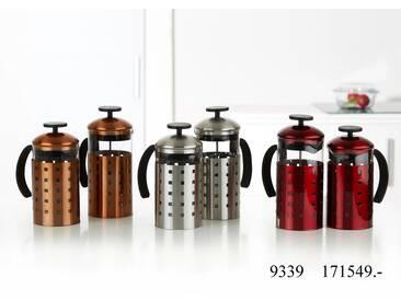 Kaffeebereiter 1,2 Liter silber - Kaffeebereiter Giulia