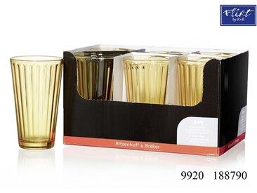 2er-Set Longdrink-Gläser ocker - Longdrink-Gläser Lawe