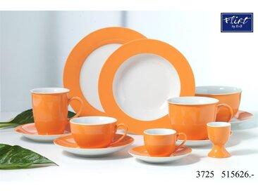 Kaffeeservice 18tlg. - Geschirr-Serie Doppio orange