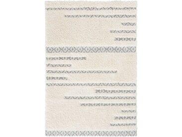 160x230 cm Deluxe Shaggy Teppich Weiss Skandi Bahama MY8823CC