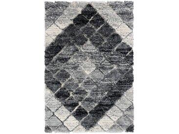 120x170 cm Deluxe Shaggy Teppich Grau Boho Bahama MY8815