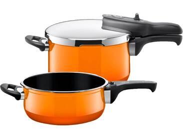 SILIT 21.2927.9815 Sicomatic® t-plus Duo Passion Orange Schnellkochtopf (Silargan®, Edelstahl, Kunststoff)