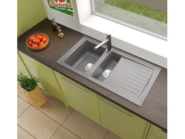respekta Spüle Küchenspüle Einbauspüle Mineralite Spülbecken 1...