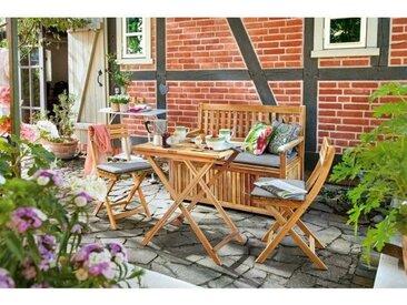 OUTDOOR Gartenmöbel Set TUANA 4 teilig Akazienholz