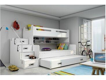 Stylefy Ole Etagenbett Weiß