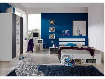 Stylefy Lohengrin Kinderzimmer-Set Weiß Graphit