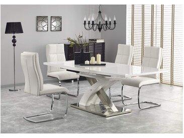 Stylefy Sandor II Essgruppe Weiß Chrom