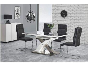 Stylefy Sandor II Esszimmertisch Schwarz Weiß