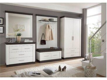 Stylefy Penelopa Garderobenset Pinie Weiß | Wenge