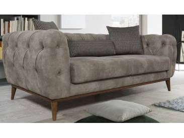 Chesterfield Sofa  Couch Polstergarnitur 3+3+1 Abant