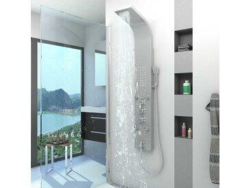 AcquaVapore Duschpaneel aus Edelstahl Duschsäule Duscharmatur Farbe silber DP03