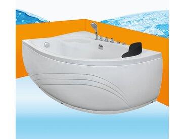Eckwanne Whirlpool Raumsparwunder Pool Badewanne A617N-ALL 160x100...
