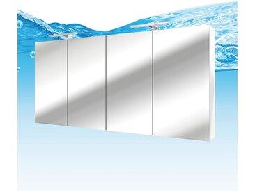 Spiegelschrank, Badspiegel, Badezimmer Spiegel City 200cm weiß NEIN ohne LED-Beleuchtung