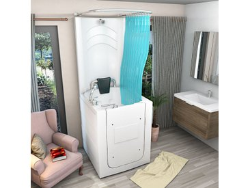Senioren Dusche Sitzbadewanne Sitzwanne Duschbadewanne mit Tür Pool...