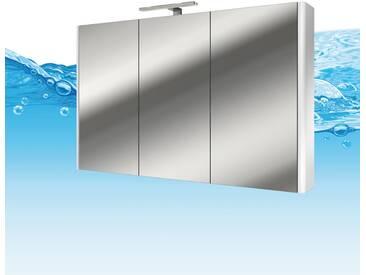 Spiegelschrank, Badspiegel, Spiegel Curve 120cm MDF Hochglanz weiß...
