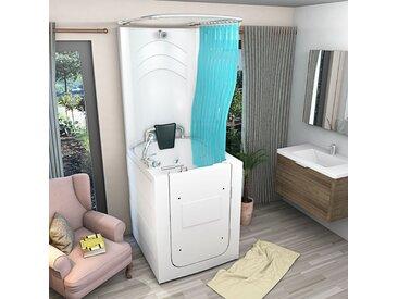 Senioren Dusche Sitzbadewanne Sitzwanne Whirlpool Duschbadewanne mit Tür A110D