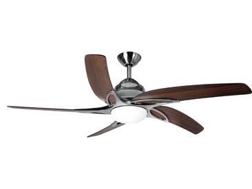 Deckenventilator Viper Stahl / Eiche mit Licht 112 cm