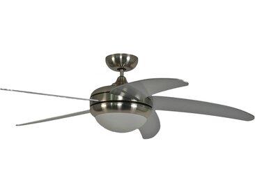 Deckenventilator Makkura Chrom gebürstet/ Silberflügel mit Fernbedienung