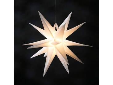 18-zackiger XL-Kunststoff-Stern für außen - weiß