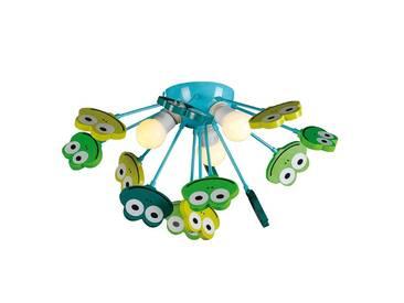 Deckenlampe Frosch mit Dimmer, u.a. für Kinderzimmer aus Metall in Grün von Naeve Leuchten (3 flammig, E14, A++)