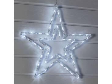 LED-Stern weiß in Doppeloptik