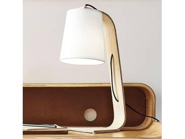 Tischlampe Nordic, u.a. für Wohn & Esszimmer aus Holz von Lucide (1 flammig, E14, A++)