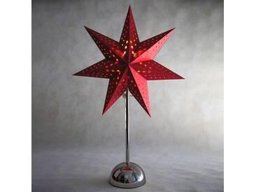 Chrom/Rot - LED-Stern Cellcandle Sternmuster