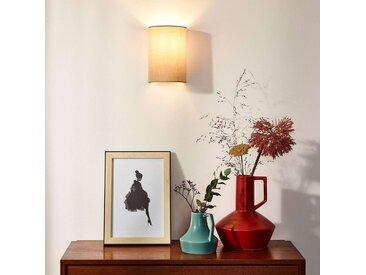 """Wandleuchte, Wandlampe Innen """"Coral"""" mit Dimmer, u.a. für Wohn & Esszimmer aus Textil in Creme von """"Lucide"""" (1 flammig, E14, A++)"""