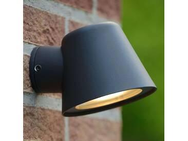 LED Wandleuchte außen Dingo mit Dimmer aus Aluminium in Schwarz von Lucide, IP44 (1 flammig, GU10, A+)