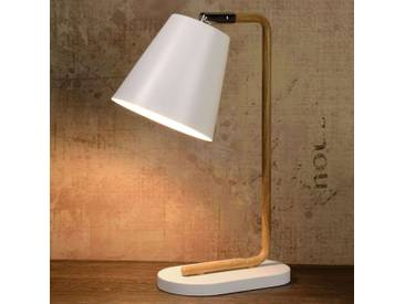 Tischlampe Cona, u.a. für Wohn & Esszimmer aus Metall in Weiß von Lucide (1 flammig, E14, A++)