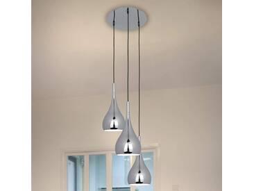 Pendelleuchte Anja mit Dimmer, u.a. für Wohn & Esszimmer aus Metall in Chrom von Naeve Leuchten (3 flammig, E27, A++)
