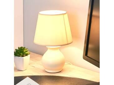 Tischlampe Mia, u.a. für Wohn & Esszimmer aus Keramik in Chrom von Lucide (1 flammig, E14, A++)