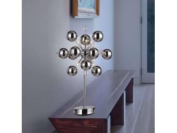Tischlampe Wakusei mit Dimmer, u.a. für Wohn & Esszimmer aus Metall in Chrom von Naeve Leuchten (6 flammig, G9, A++)