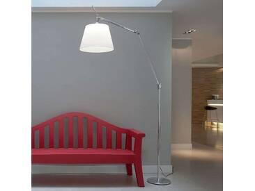 Stehlampe Tolomeo Mega mit Dimmer, u.a. für Wohn & Esszimmer aus Aluminium in Alu von Artemide (1 flammig, E27, A++)