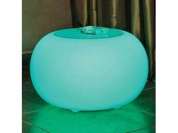 Bubble LED ACCU Outdoor Tisch mit Glasplatte