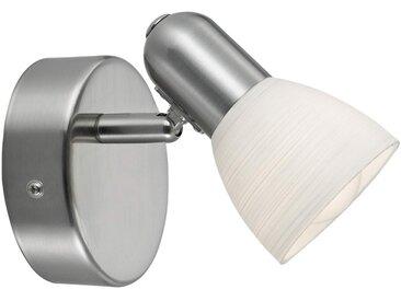 """Wandleuchte, Wandlampe Innen """"Dake"""" mit Dimmer, u.a. für Flur aus Metall in Alu von """"EGLO"""" (1 flammig, E14, A++)"""