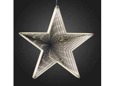 Zum Aufhängen - LED-Stern m. Infinity-Effekt