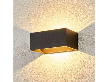 """LED Wandleuchte außen """"Kjella"""" aus Aluminium in Schwarz von """"Lampenwelt.com"""", IP54 (1 flammig, A+)"""