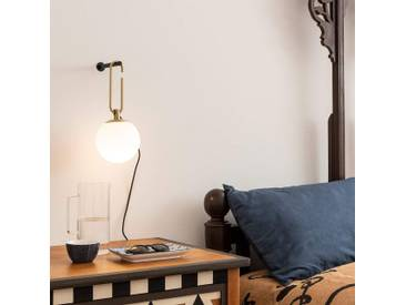 Artemide nh Wall Wandlampe mit Glaskugel, messing