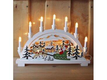 Dekorativer Lichterbogen Weihnachtsmann 7-flg.