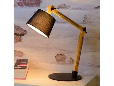 Tischlampe Olly, u.a. für Wohn & Esszimmer aus Holz von Lucide (1 flammig, E14, A++)