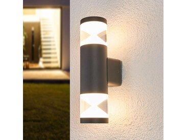 LED-Außenwandlampe Tamiel, dunkelgrau, 2-fl.