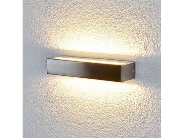 """LED Wandleuchte außen """"Jagoda"""" aus Edelstahl in Alu von """"Lampenwelt.com"""", IP44 (1 flammig, A+)"""